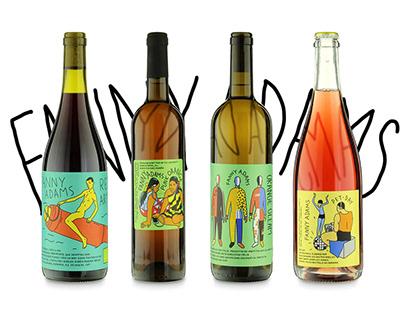 Label Design for Fanny Adams Wine