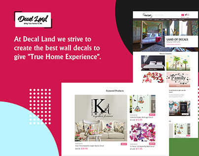 Decal Land Website Design