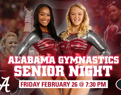2016 Alabama Gymnastics Senior Night Graphics