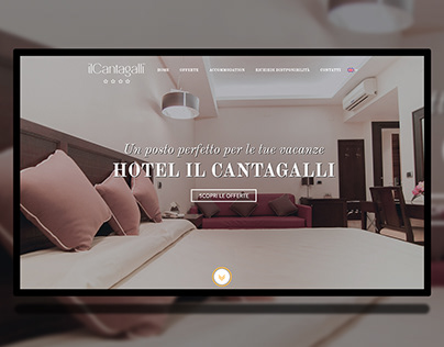 Hotel, Bed and Breakfast Web Site ui ux design