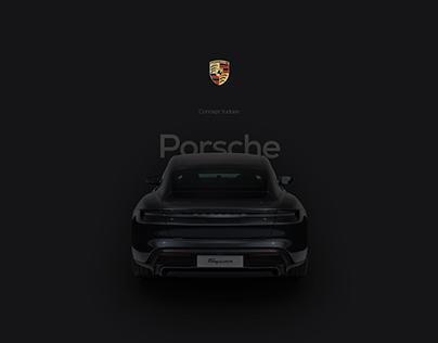 Porsche Taycan / Landing page concept