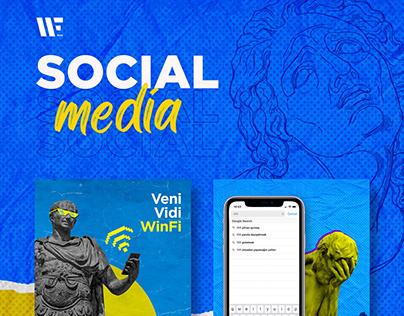 Social media posters for WinFi app
