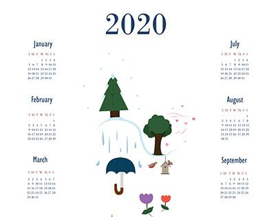 Seasons Through the Year - 2020 Calendar