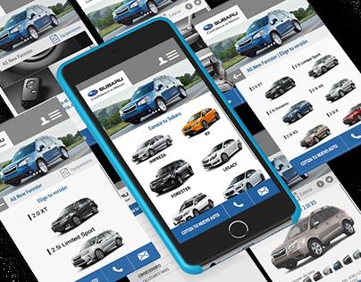 Subaru - prototype web mobile