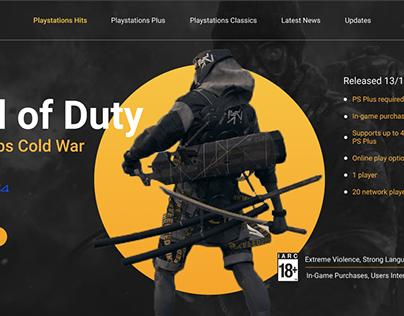 Playstation / Esport Landing page