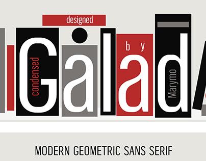 Condensed sans-serif font Galad
