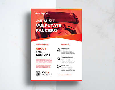 Flyer Design Minimalist Business Corporate VR