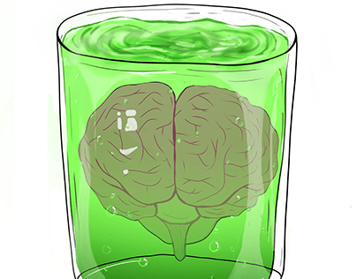 brain in a jar. (t-shirt)