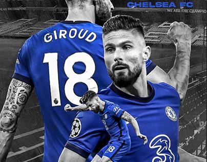 Sports poster design: Olivier Giroud