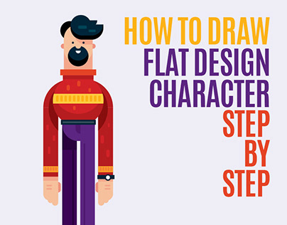 How To Draw Flat design Character Illustration