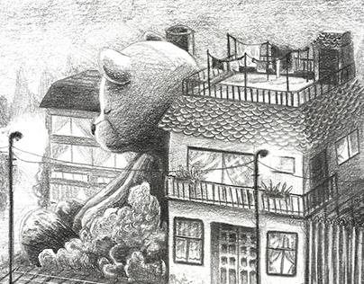 """Ilustraciones para """"Cuatro Sonrisas y el Sol"""""""