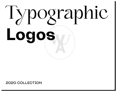 Logos based on typography