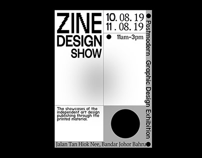 Zine Design Show Poster
