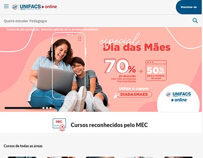 Site da instituição UNIFACS Online