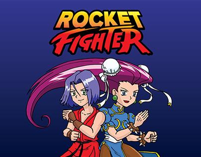 Rocket Fighter T-Shirt Design
