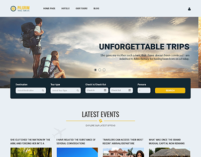 Pilgrim — Travel Booking WordPress Theme