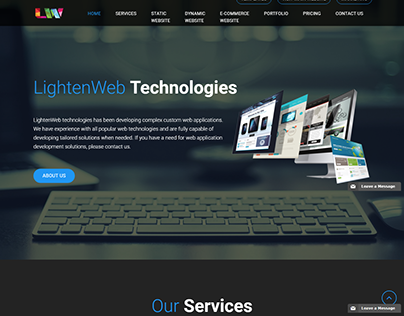 Lightenweb.in One Page Application