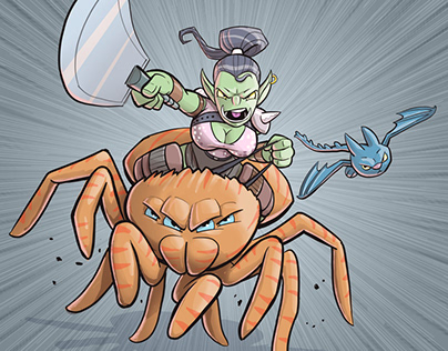 Fresco: Orc Spider Rider