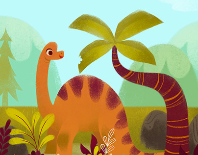 Dino kids wall art print