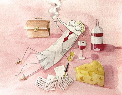 Illustrations for short-story series