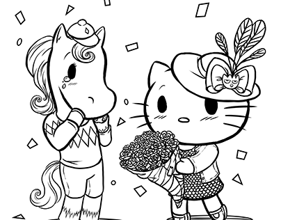 Hellokitty7 Coloring Page - Free Hello Kitty Coloring Pages ... | 316x404