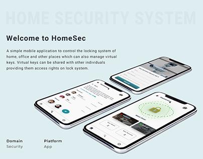 Homesec (Security App) - UX Case Study
