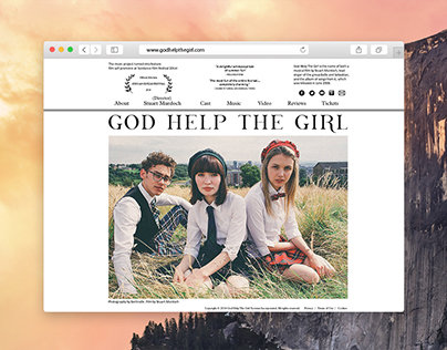 GOD HELP THE GIRL: Website Design