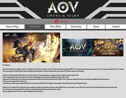 desain web AOV
