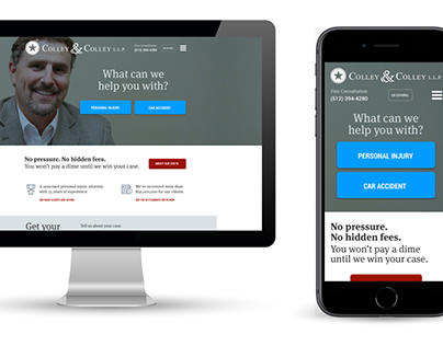 Colley Law | Responsive Website
