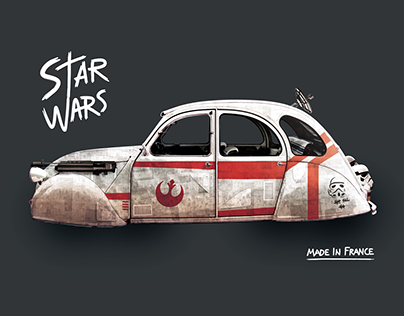 SPACE 2CV (Personnal Illustration)