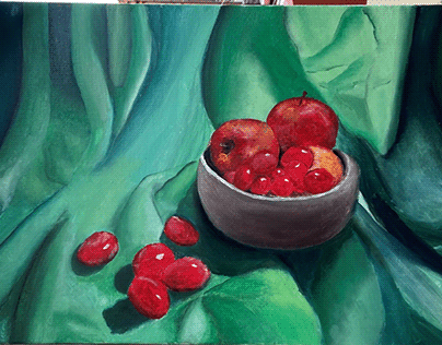 Beginner 3D Still Life Oil Painting