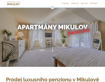 Webdesign - Apartmány Mikulov (2019)