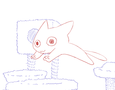 Kitty jumping sketch