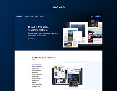 Joomag website redesign