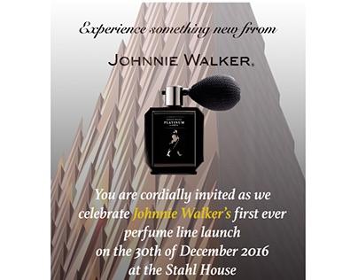 Mockup Johnnie Walker Party Invitation