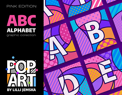 """ABC"" ALPHABET Pop Art graphic collection +"