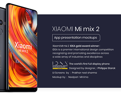 Xiaomi Mi mix 2 App presentation mockups ( Freebie )