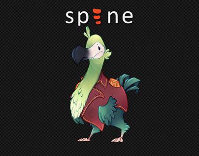 Dodo Bird idle/attack (Spine 2D)