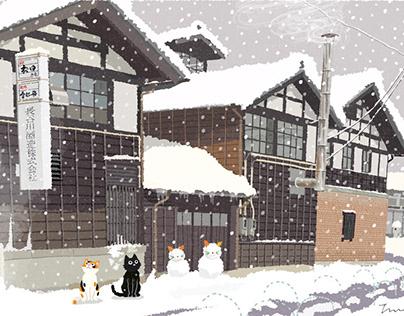 TABINEKO-Snow sake brewery