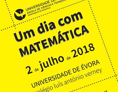"""poster """"Um dia com MATEMÁTICA"""""""
