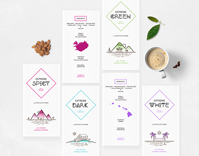 Extreme Chocolate Bars   Packaging Design