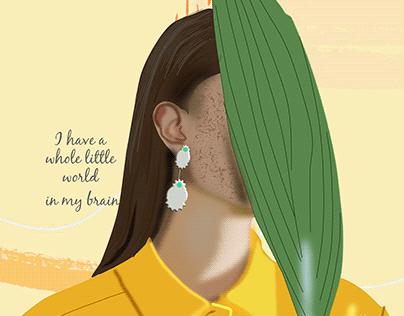 aesthetic portrait illustration