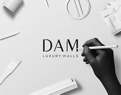 DAM Luxury Walls Brand Identity Presentation