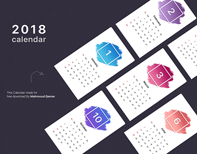Calendar of 2018 by Mahmoud Qamar ( WIP )