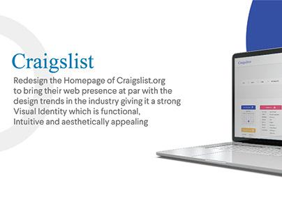 Craigslist Homepage Redesign