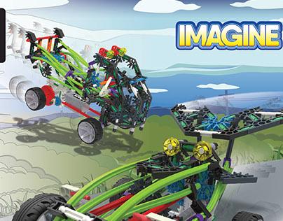 """Imagine"" line of K'NEX packaging"