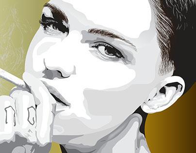 Ruby Rose Vector Portrait