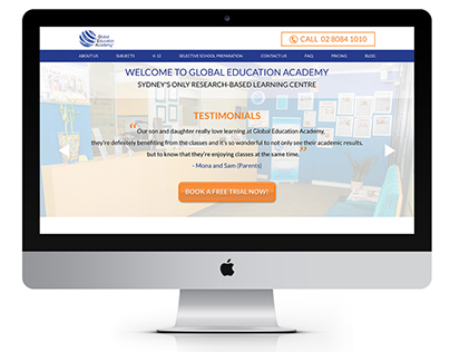 Global Education Academy - Web Redesign