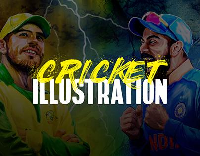 Cricket Illustration