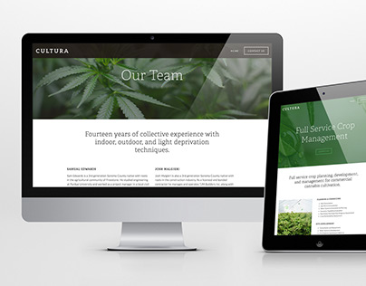 Cultura Crop Management Website Design